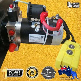 12 VOLT HYDRAULIC POWER UNIT 1.5KW MOTOR, 2.0CC PUMP WITH 12LT TANK