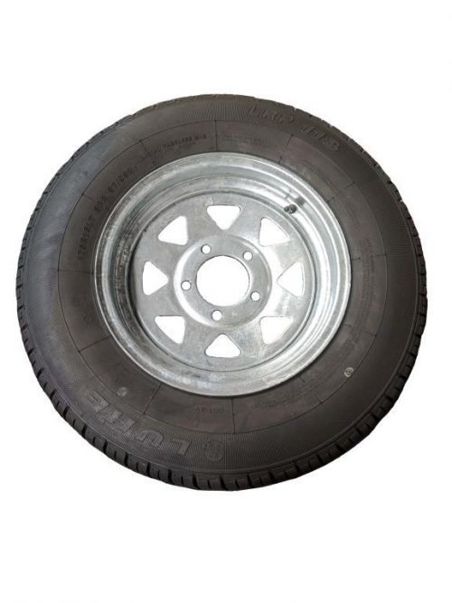 175R13LT Tyre fitted to 13 inch Galv Ford Rim