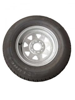 Manutec 175R13 Tyre fitted to Multi-fit Galv Rim Trailer Caravan Spare Part