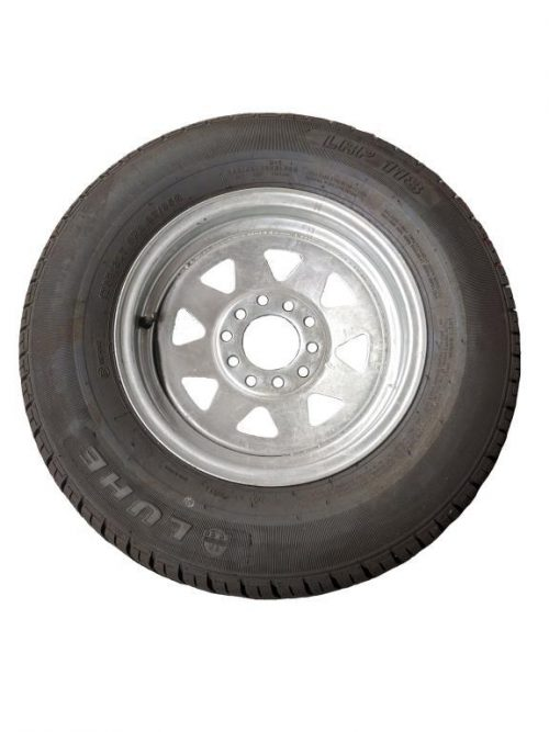 175R13 Tyre fitted to Multi-fit Galv Rim