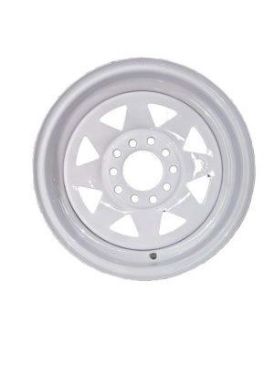 Manutec 13in Rim only – Multi Fit White Sunraysia Rim Trailer Caravan Spare Part