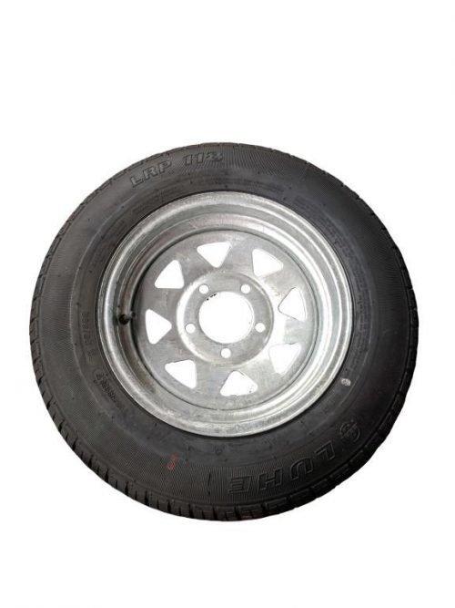 155R13 Tyre fitted to 13 inch Galv Ford Rim