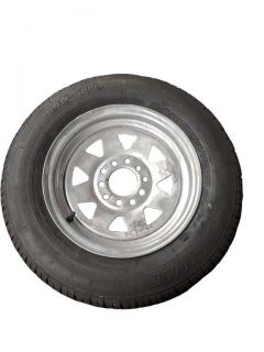 Manutec 155R13 Tyre fitted to Multi-fit Galv Rim Trailer Caravan Spare Part