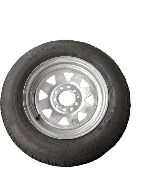 155R13 Tyre fitted to Multi-fit Galv Rim