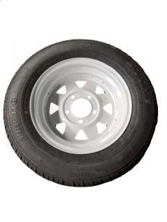 Manutec 155R13 Tyre fitted to 13 inch White Sunraysia Ford Rim Trailer Caravan