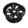 14X6 INCH ALLOY TRAILER WHEEL FORD RIM - BLACK TX2