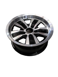 14X6 INCH ALLOY TRAILER WHEEL FORD RIM – BLACK MACHINE FACE TX2