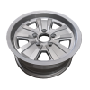 14X6 INCH ALLOY TRAILER WHEEL FORD RIM - SILVER - TX2