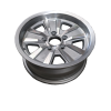 14X6 INCH ALLOY TRAILER WHEEL FORD RIM - SILVER MACHINE FACE - TX2
