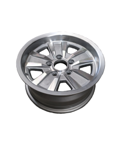 14X6 INCH ALLOY TRAILER WHEEL FORD RIM – SILVER MACHINE FACE – TX2