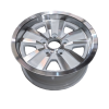 14X6 INCH ALLOY TRAILER WHEEL FORD RIM - WHITE MACHINE FACE - TX2