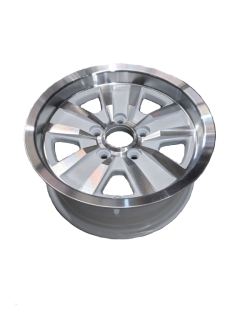 14X6 INCH ALLOY TRAILER WHEEL FORD RIM – WHITE MACHINE FACE – TX2