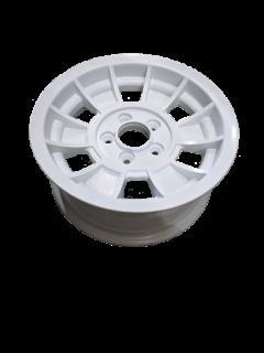 Manutec 14X6 INCH TX-1 ALLOY TRAILER WHEEL HT RIM – WHITE Trailer Caravan Part