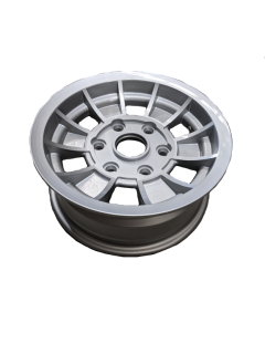 14X6 INCH ALLOY TX1 TRAILER WHEEL LC6 RIM – SILVER