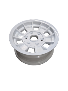 14X6 INCH ALLOY TX1 TRAILER WHEEL LC6 RIM – WHITE