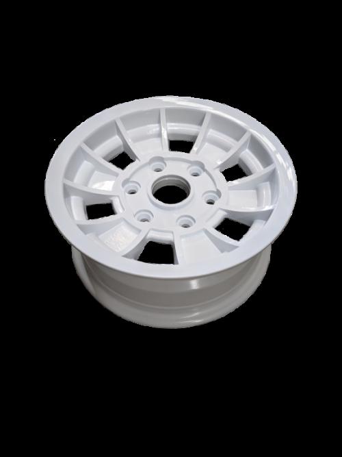 14X6 INCH ALLOY TX1 TRAILER WHEEL LC6 RIM - WHITE