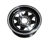 14X6 Rim only - Ford Sunraysia BLACK