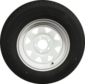 185R14LT Tyre fitted to 14 inch White Sunraysia Commodore Rim