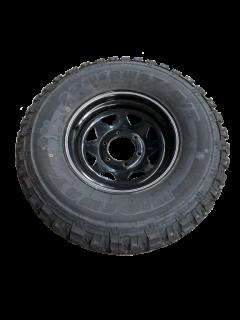 15″ Landcruiser 6 Stud Trailer Rim & Tyre – Black – 31×10.5 M/T 10ply