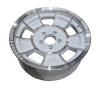 16X6 INCH ALLOY TRAILER WHEEL FORD RIM - WHITE MACHINE FACE - TX1