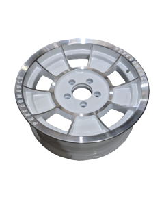 16X6 INCH ALLOY TRAILER WHEEL FORD RIM – WHITE MACHINE FACE – TX1
