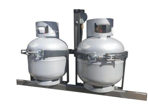 LARGE ADJUSTABLE GAS BOTTLE HOLDER IN-LINE KIT