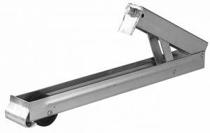 Manutec Adjust Leg Hex Rear 600mm – with wheel Trailer Caravan Spare Part