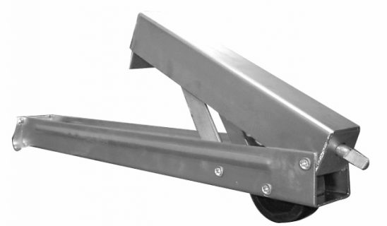 Adjust Leg Slot Rear 600mm -with wheel