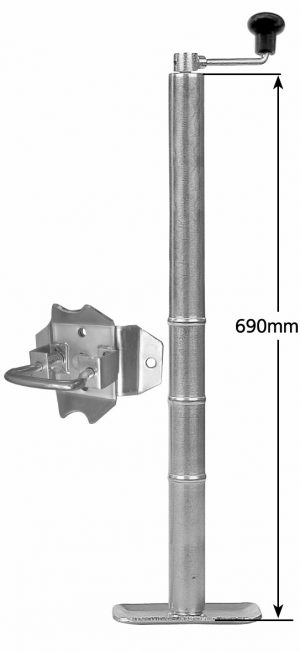 Manutec Standard Adjustable Stand 27 with loose Swivel Bracket Trailer Caravan