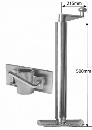 Manutec Heavy Duty Adjustable Stand 475mm with clamp Trailer Caravan Spare Part