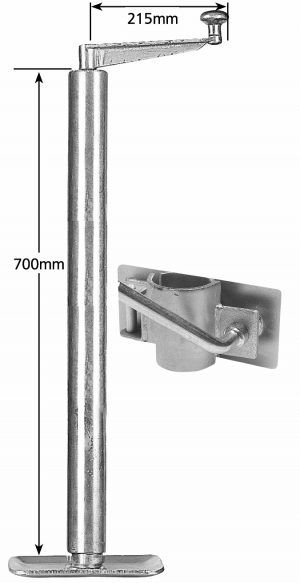 Manutec Heavy Duty Adjustable Stand 675mm with clamp Trailer Caravan Spare Part