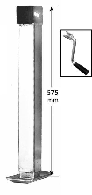 Manutec Side Wind Adjustable Stand, med, loose handle Trailer Caravan Spare Part