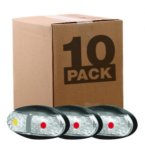 Manutec OEM 10 PACK SIDE MARKER LAMP – AMBER/RED – 0.5M CABLE Trailer Caravan