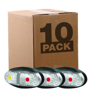 OEM 10 PACK SIDE MARKER LAMP – AMBER/RED – 0.5M CABLE