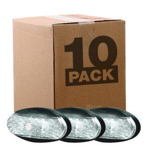 Manutec  OEM 10 PACK SIDE MARKER LAMP – WHITE – 0.5M CABLE Trailer Caravan Part