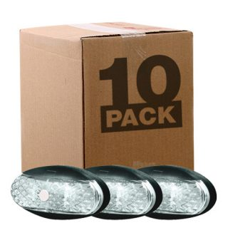 OEM 10 PACK SIDE MARKER LAMP – WHITE – 0.5M CABLE