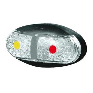 Manutec SIDE MARKER LAMP – AMBER/RED – 2.5M CABLE – RETAIL Trailer Caravan Part