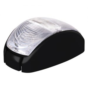 Trailer Lights 10-30V 2 LED Oval 60 X 35MM Clear Lens Black Base -RED Trailer Part