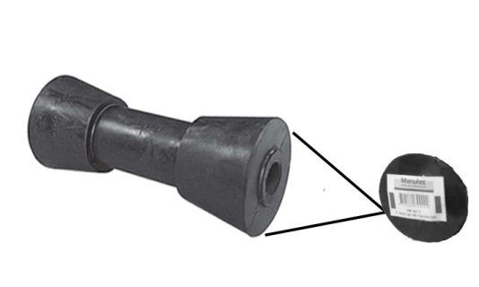 Rubber Boat Rollers 6 inch Sydney Type, Black with 17mm plain bore – Retail Part
