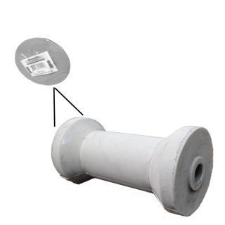 Rubber Boat Roller 4 inch Cotton Reel Type, Grey with 16mm plain bore – Retail Trailer Caravan