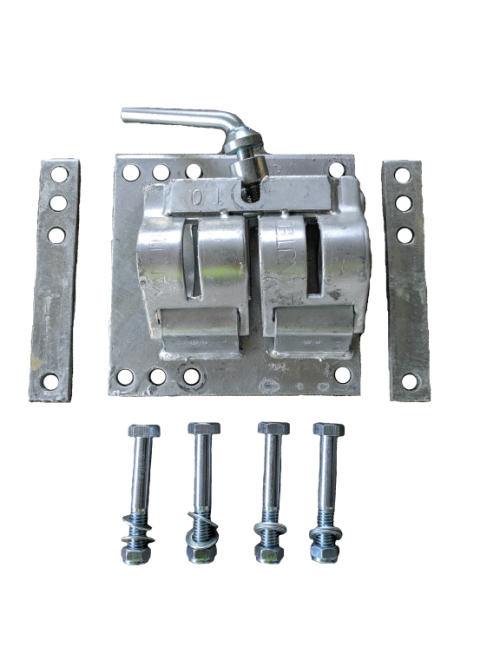 Double Clamp Galv. to suit std 48mm tube BOLT ON KIT
