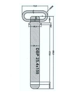 Manutec Draw Bar Pin 25.4mm x 159mm Trailer Caravan Spare Part