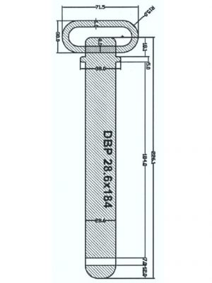 Manutec Draw Bar Pin 28.6mm x 184mm Trailer Caravan Spare Part