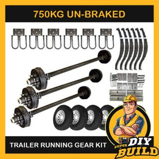 Single Axle Running Gear Kit – Un-Braked 750kg (Parts Only)