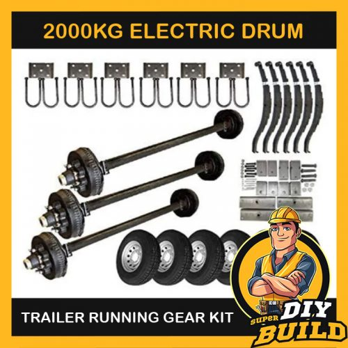 Tandem Axle Running Gear Kit – Electric Brake 2000kg (Parts Only)