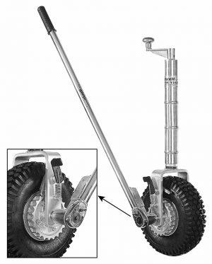 Manutec Single Wheel Easy Mover with Pneumatic Wheel Trailer Caravan Spare Part