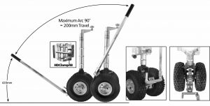 Manutec Twin Easy Mover Pneu J/ W Heavy Duty Clamp Trailer Caravan Spare Part