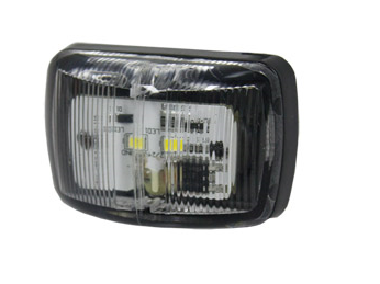 FRONT MARKER LAMP - CLEAR / WHITE 9-33V 0.5m Cable