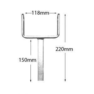 Boat Roller Bracketry 4 inch Single Post Roller Bracket, Galv (B-3833) Trailer