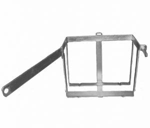 Manutec  Metal Strap Jerry Can Holder – Front Load Trailer Caravan Spare Part